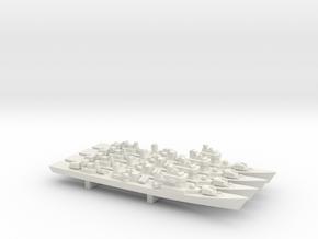 Type 051DT Destroyer x 4, 1/1800 in White Natural Versatile Plastic