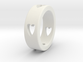 LOVE RING Size-11 in White Strong & Flexible