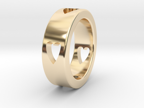 LOVE RING Size-11 in 14k Gold Plated Brass