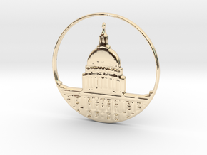 Washington DC Pendant in 14k Gold Plated Brass