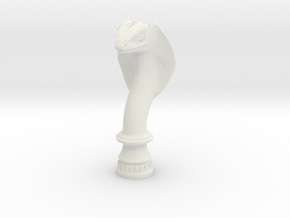 Snake 4cm in White Natural Versatile Plastic