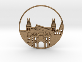 Amsterdam Pendant in Natural Brass