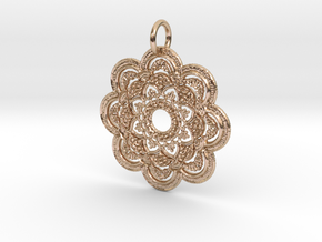 Excess Pendant in 14k Rose Gold