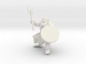 Orc warrior assembled in White Natural Versatile Plastic