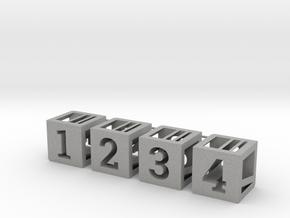 Photogrammatic Assembled Cube Sprue in Aluminum