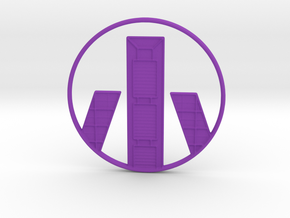 Madrid Pendant in Purple Processed Versatile Plastic