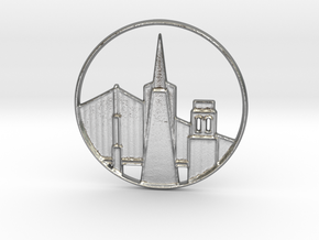 San Francisco Pendant in Natural Silver