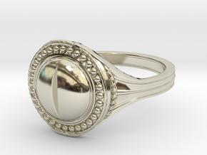 Ring of the Evil Eye in 14k White Gold: 6 / 51.5