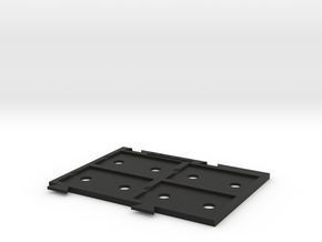 X-wing Miniatures Upgrade Card Holder X4 in Black Natural Versatile Plastic