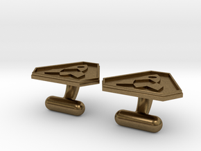 Cufflink in Natural Bronze
