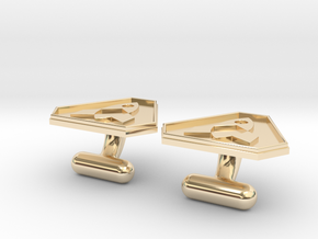 Cufflink in 14k Gold Plated Brass
