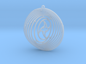 Pendant Wind Spinner Circle Sun and moon in Smoothest Fine Detail Plastic