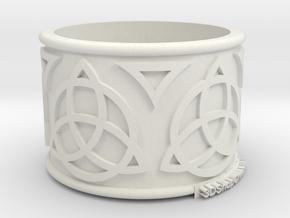 Celtic Ring Bene4 in White Natural Versatile Plastic