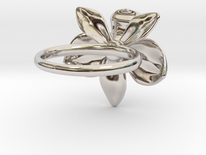Orchid Ring in Rhodium Plated Brass: 5 / 49