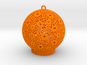 Knots Of Nature Ornament for lighting in Orange Processed Versatile Plastic
