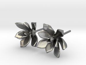 Succulent No. 3 Stud Earrings in Natural Silver