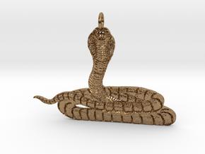 Cobra Pendant in Natural Brass