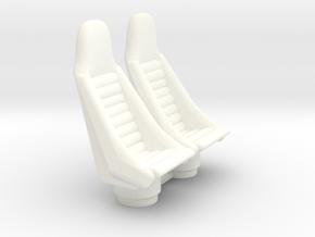 1/18 COCKPIT PILOT SEATS in White Strong & Flexible Polished