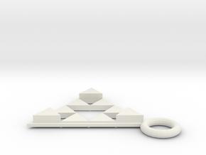 DeusEx Pendant V2 singlesided Hollow in White Natural Versatile Plastic