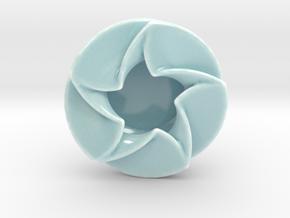 Spinning Star Dish in Gloss Celadon Green Porcelain