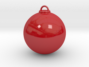 Christmas Ball - Custom in Gloss Red Porcelain