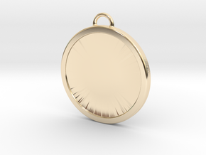 Chirstmas Ball (Flat) - Custom in 14k Gold Plated Brass