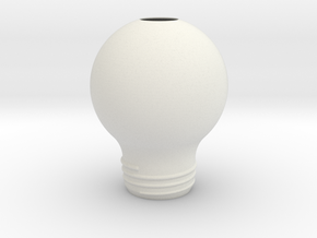 Upside Down Lamp SMALL in White Natural Versatile Plastic
