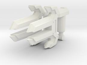 Energon Knuckles (Set of 2, 3mm) in White Natural Versatile Plastic