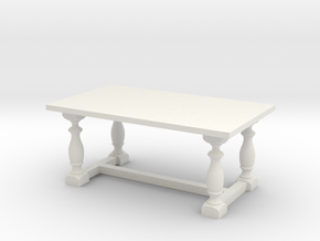 Table, Dining 1:48 in White Strong & Flexible
