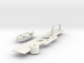 Custom Dashboard for Tamiya Fast Attack Vehicle in White Natural Versatile Plastic