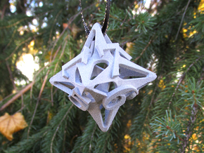 Pinwheel Die8 Ornament in White Strong & Flexible