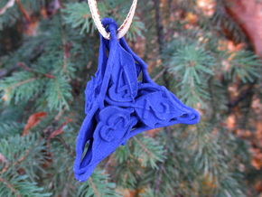 Botanical d4 Ornament in Blue Processed Versatile Plastic