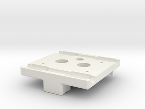 X Carriage Base for Dual Extruders in White Natural Versatile Plastic