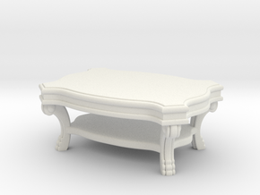 Coffee Table Victorian V1 in White Natural Versatile Plastic