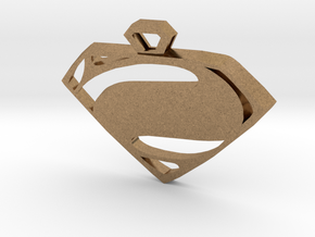 Superman Man of Steel pendant in Natural Brass
