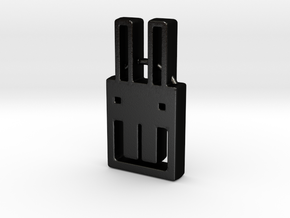square bunny in Matte Black Steel