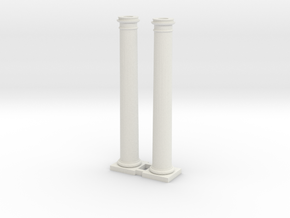 Doric Column 4500mm high X 2 at 1:76 Scale in White Strong & Flexible