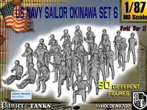 1/87 US Navy Okinawa Set 6 in Smooth Fine Detail Plastic
