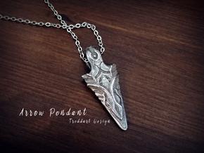 Arrow Pendant in Stainless Steel