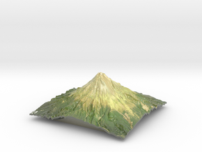 "Mt Taranaki Map - 9"" in Glossy Full Color Sandstone"