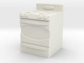 1:48 Stove in White Strong & Flexible