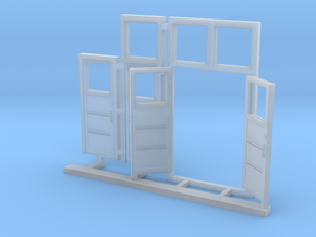 Red Barn Door Group in Smooth Fine Detail Plastic