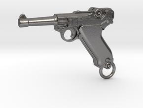 Luger Gun in Polished Nickel Steel