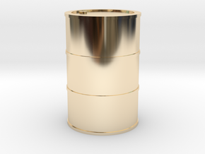 Oil Barrel 1/45 in 14K Yellow Gold