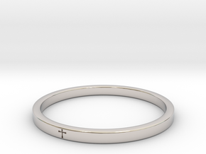 Zzring2 15 in Rhodium Plated Brass