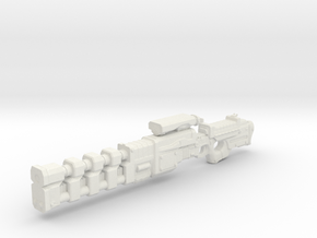Rail gun extended onepiece 1:18th Scale UPDATED lo in White Natural Versatile Plastic