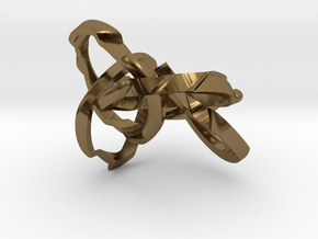 WOW5 Puzzle Ring in Polished Bronze (Interlocking Parts): 6 / 51.5