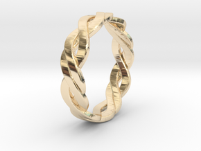 Celtic Love Band 4.5 U.S. in 14k Gold Plated Brass