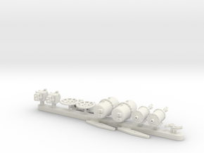AB Brake Set G Scale 1 22-5 in White Natural Versatile Plastic
