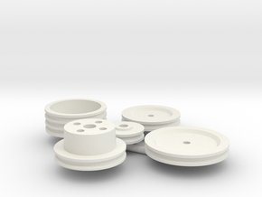Stock Engine Pulleys 1/12 in White Strong & Flexible